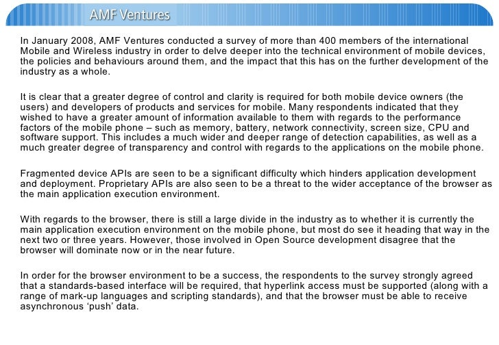 Amf Ventures   Survey Results
