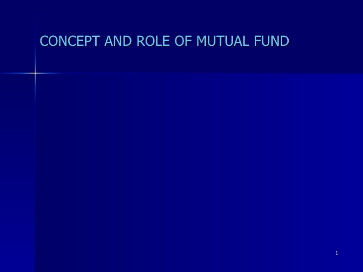Mutual Funds - An Introduction