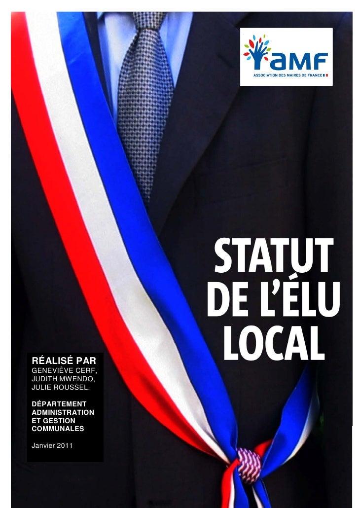 Statut de l'élu local 2011