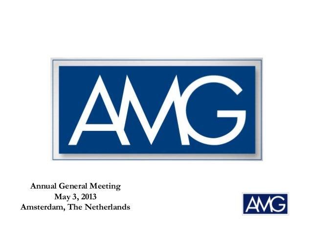 Amg   agm presentation - 2013