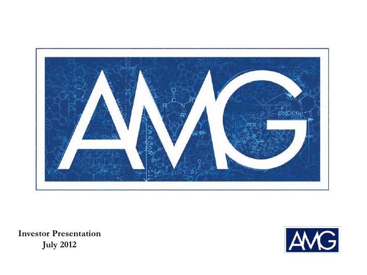 Investor Presentation      July 2012