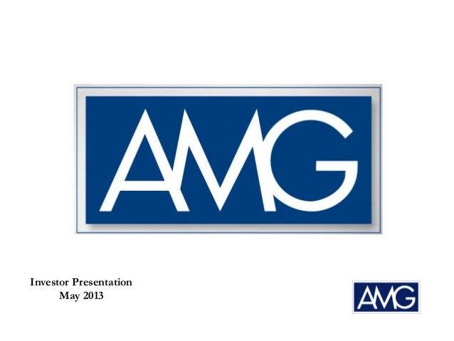 Investor PresentationMay 2013