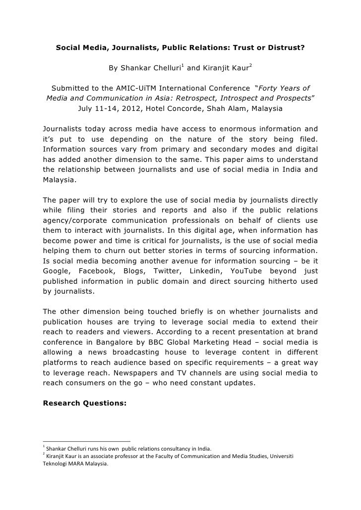 AMIC Research Paper abstract
