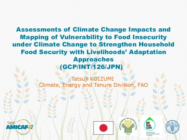 Assessments of Climate Change Impacts and Mapping of Vulnerability to Food Insecurity under Climate Change