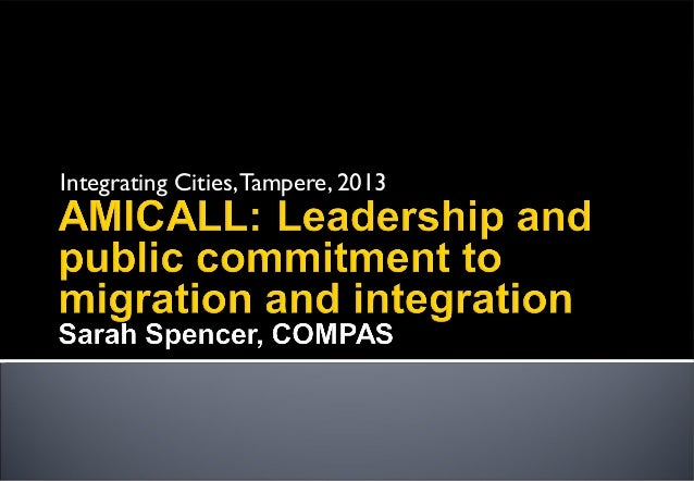 Integrating Cities,Tampere, 2013