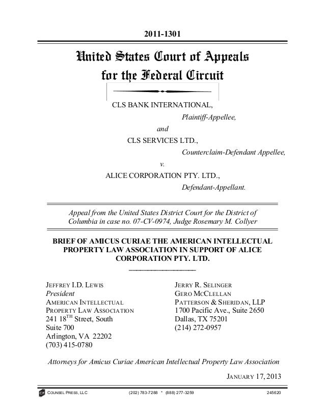 2011-1301            United States Court of Appeals                for the Federal Circuit                       CLS BANK ...