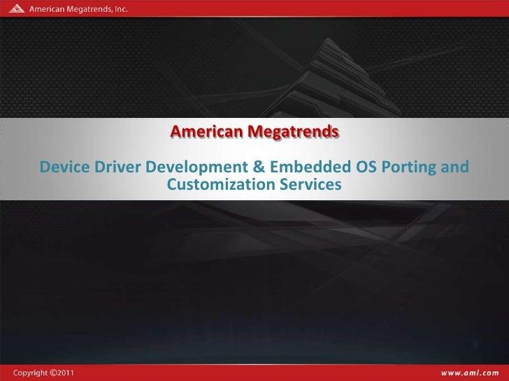 Ami device driver_services ver.  1.1