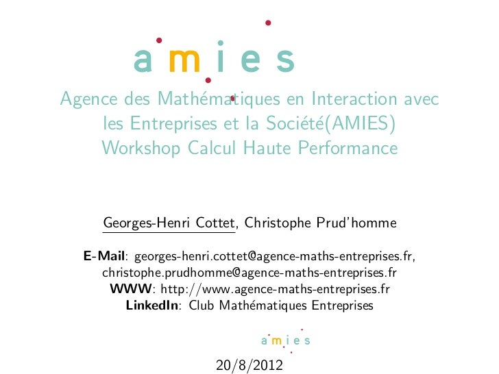 A presentation of AMIES
