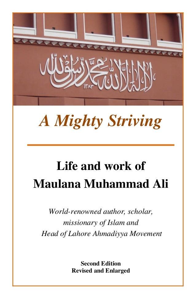 A Mighty Striving - Biography of Maulana Muhammad Ali