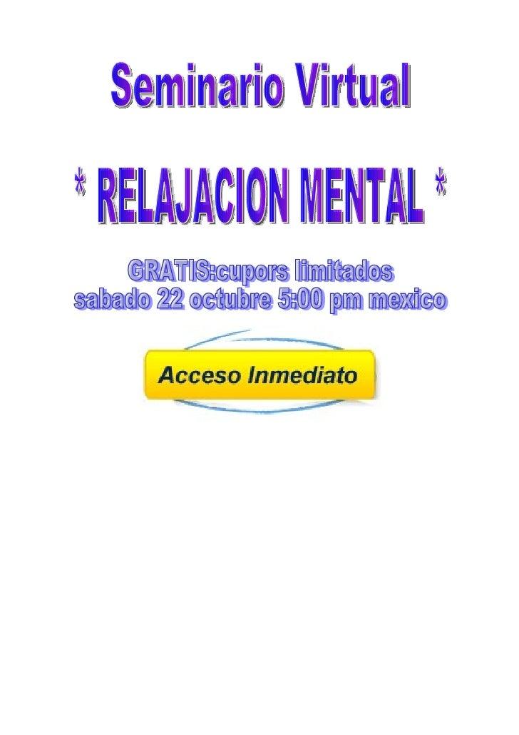 Amigos seminario virtual gratuito relajacion mental
