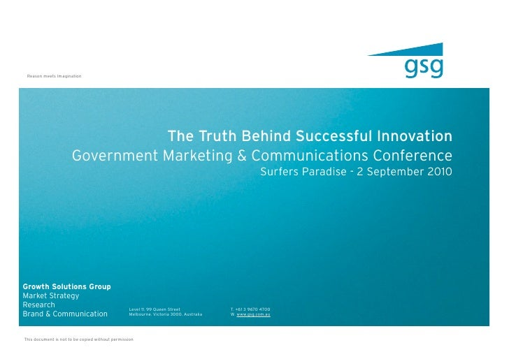 The Truth Behind Successful Government Innovation