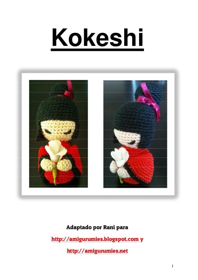 Amigurumi boneca japonesa kokeshi