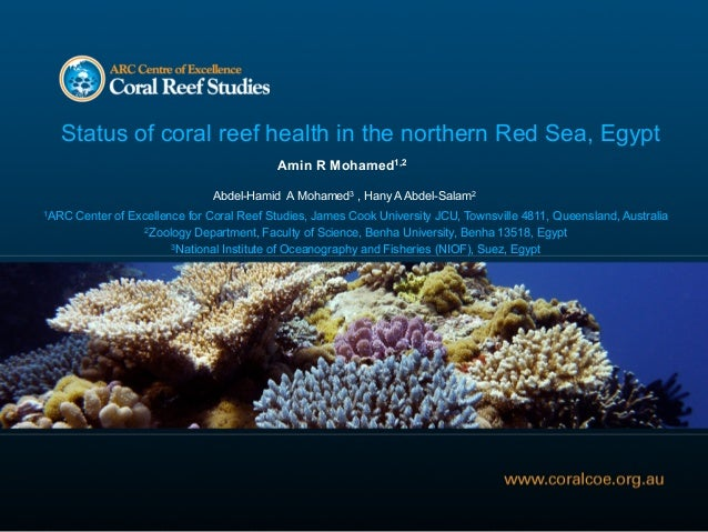 Status of coral reef health in the northern Red Sea, Egypt                                            Amin R Mohamed1,2   ...