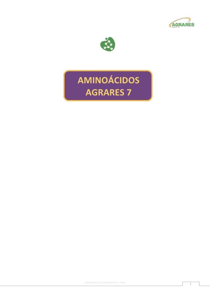 AMINOÁCIDOS AGRARES 7 AMINOÁCIDOS AGRARES 7% + NPK                                1