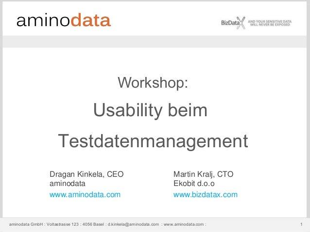 aminodata GmbH : Voltastrasse 123 : 4056 Basel : d.kinkela@aminodata.com : www.aminodata.com : 1aminodata GmbH : Voltastra...