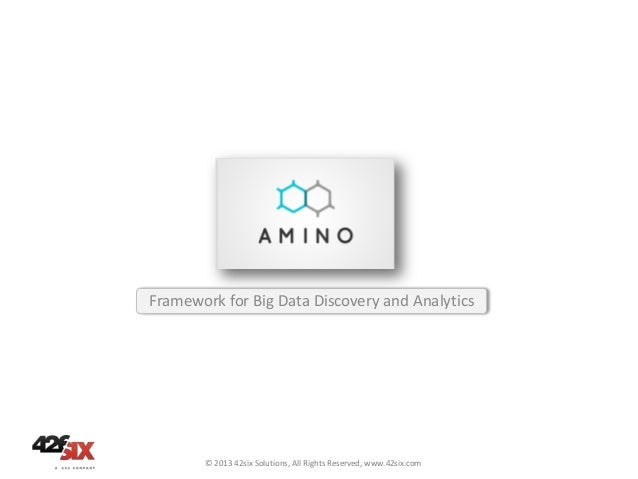 Framework for Big Data Discovery and Analytics  © 2013 42six Solutions, All Rights Reserved, www.42six.com