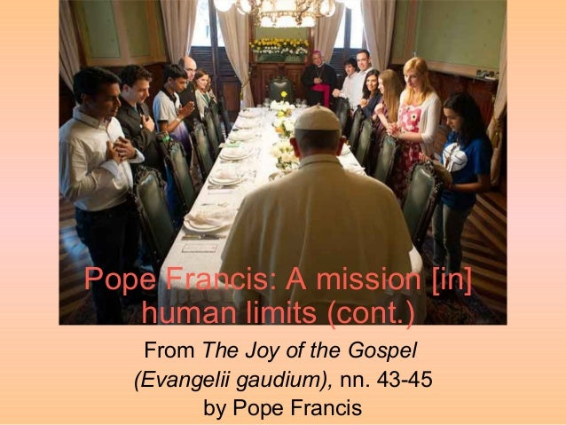 Pope Francis: A mission embodied within human limits (cont.)