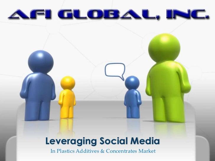 Leveraging Social Media In Plastics Additives & Concentrates Market