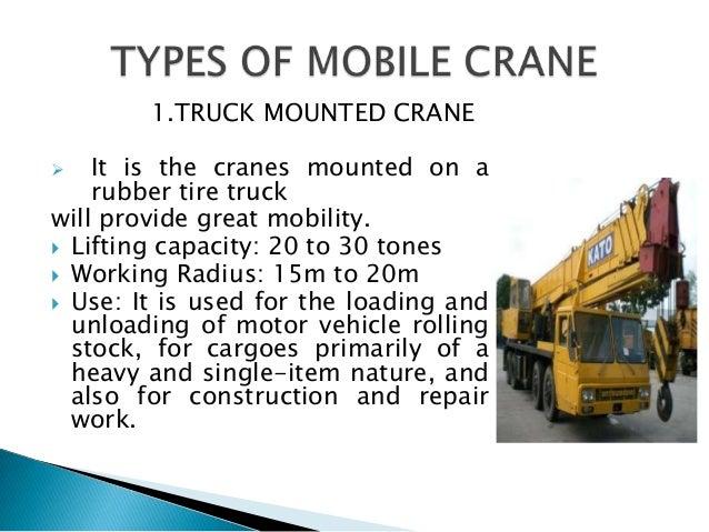 crane types and names pdf