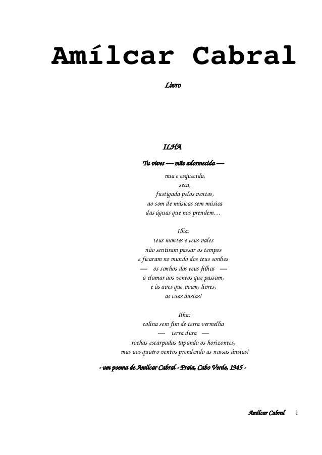 AmílcarCabral Livro  ILHA Tuvives—mãeadormecida— nuaeesquecida, ...