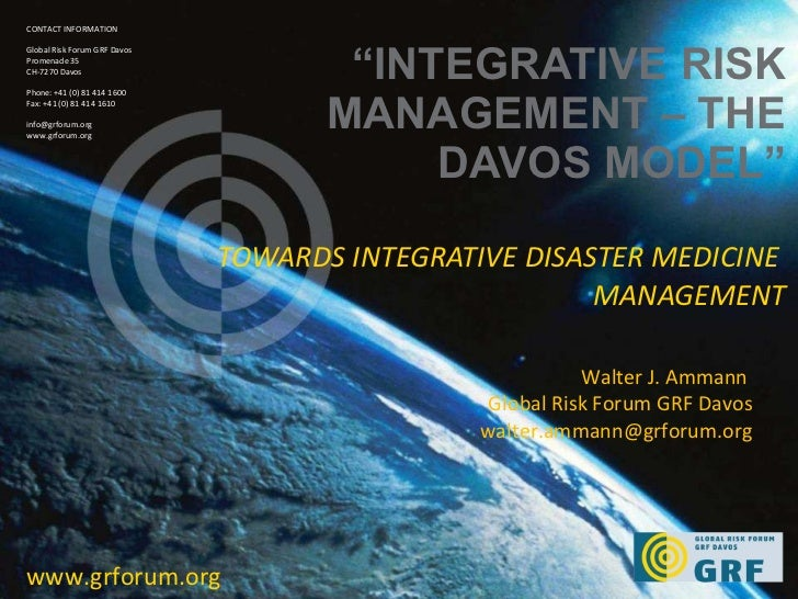 GRF Davos - The Role of Integrative Risk Managment