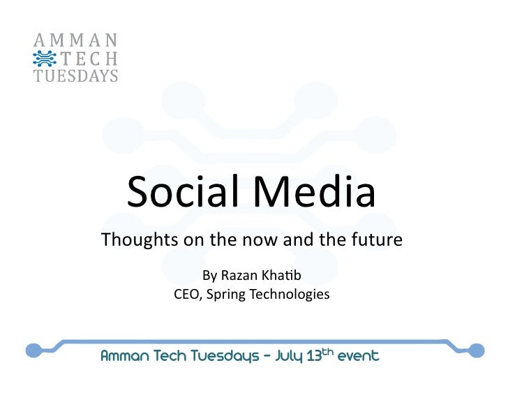Thoughts on the now and future of Social Media