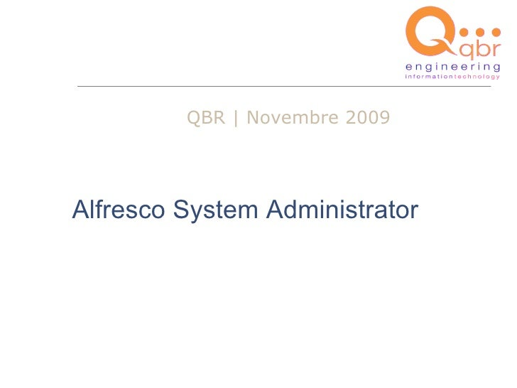 Alfresco System Administrator