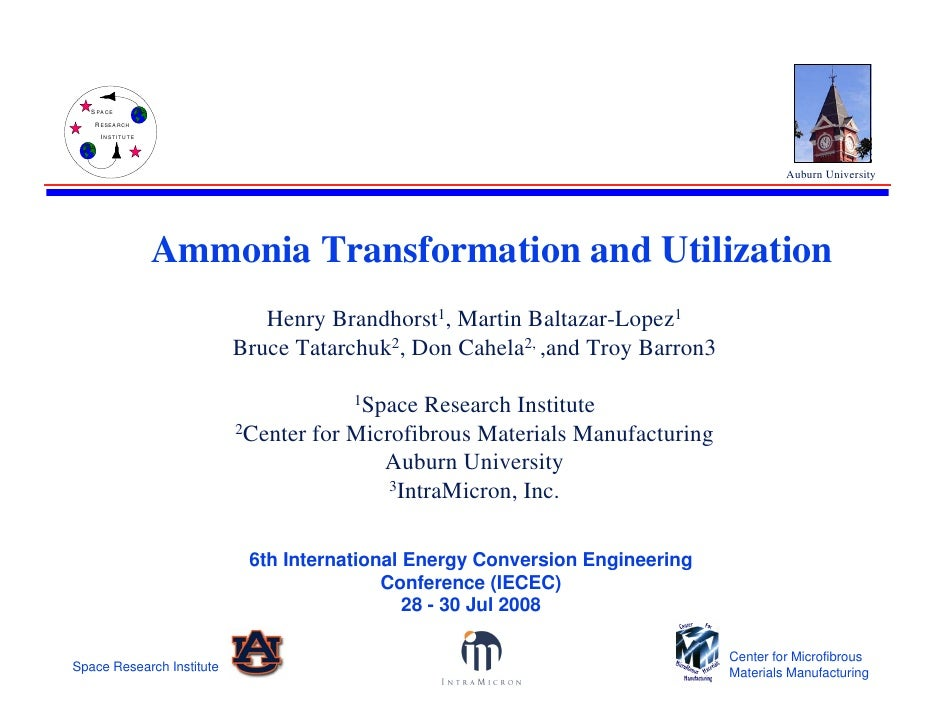 Ammonia Transformation And Utilization.