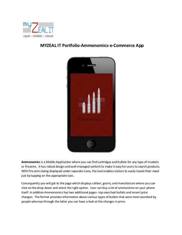 MYZEAL IT Portfolio-Ammonomics - e-Commerce App