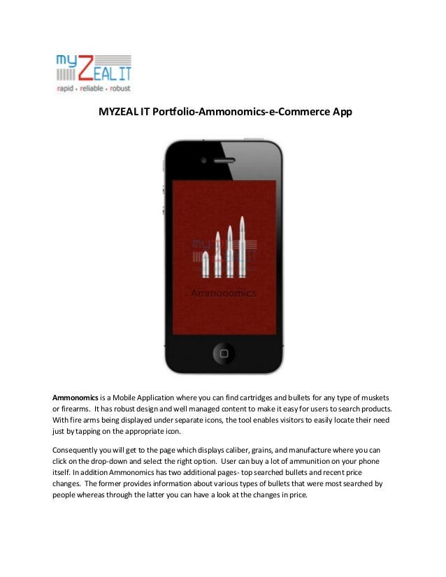 MYZEAL IT Portfolio-Ammonomics - e-Commerce App