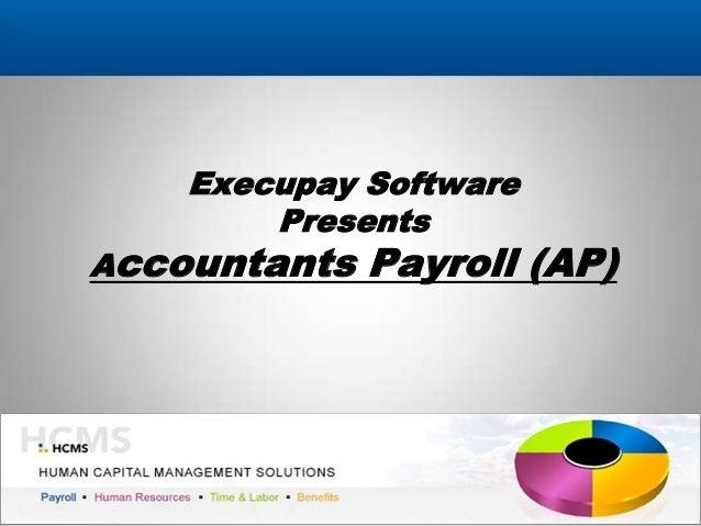 Execupay Accountants Payroll (AP) Software 2013
