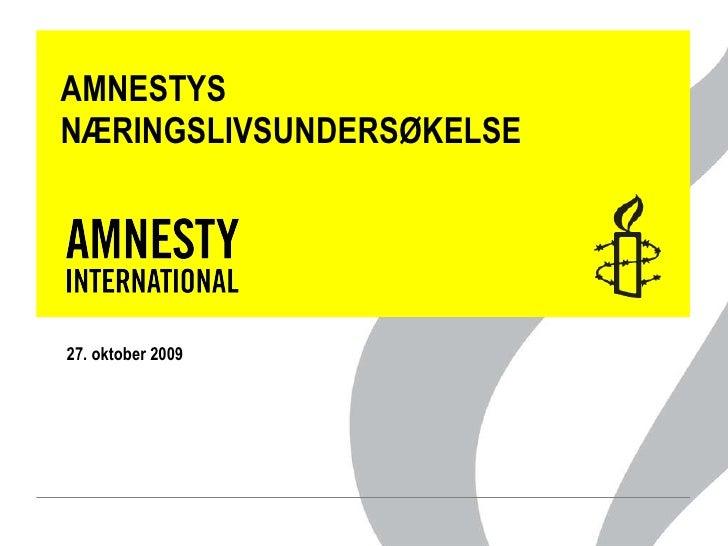 Amnestys næringslivsundersøkelse