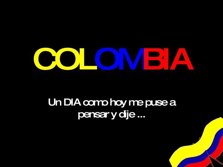 Amo a mi pais colombia