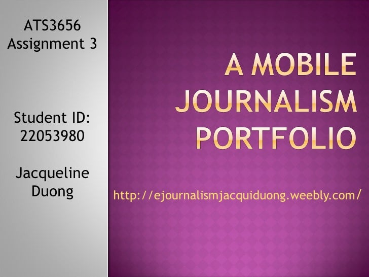 A mobile journalism portfolio