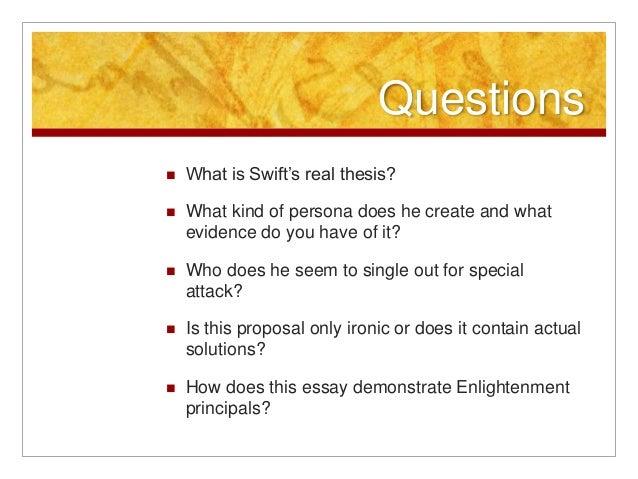modest proposal analysis thesis