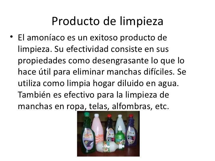 Amoniaco - Productos para limpiar alfombras en casa ...