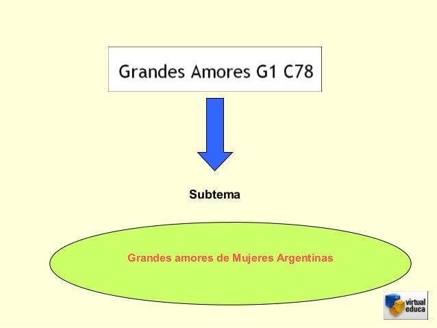 Subtema Grandes amores de Mujeres Argentinas