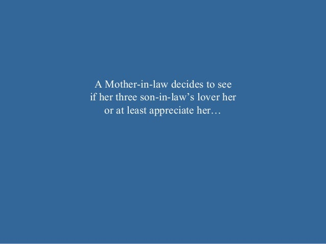 A mother in-law 1 BY BABASAB PATIL