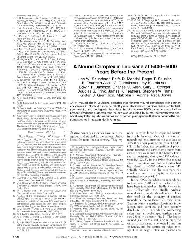 (Freeman, New York, 1993). 3. J D. Bryngeson J. N. Onuchc. N. D. Socc~,P. G. Wolynes, Proteins 21, 167 (1995); K. A. Dill ...