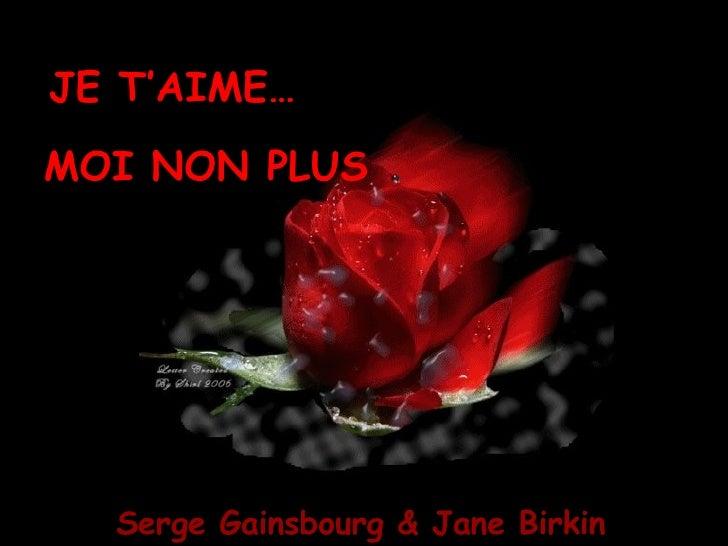 JE T'AIME… MOI NON PLUS Serge Gainsbourg & Jane Birkin