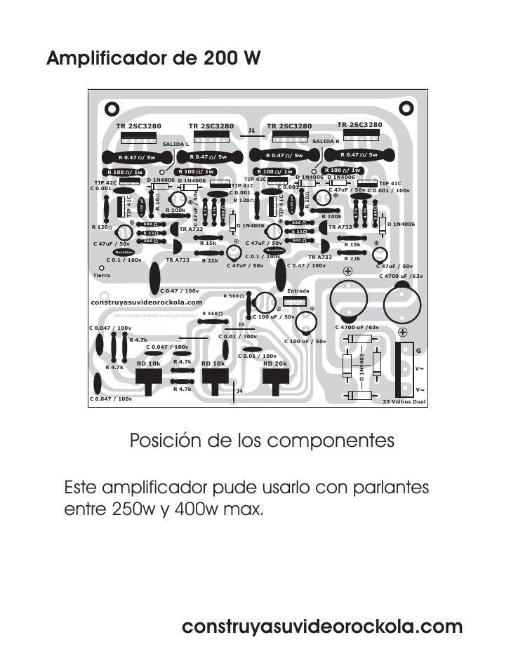 amplificador de 200w
