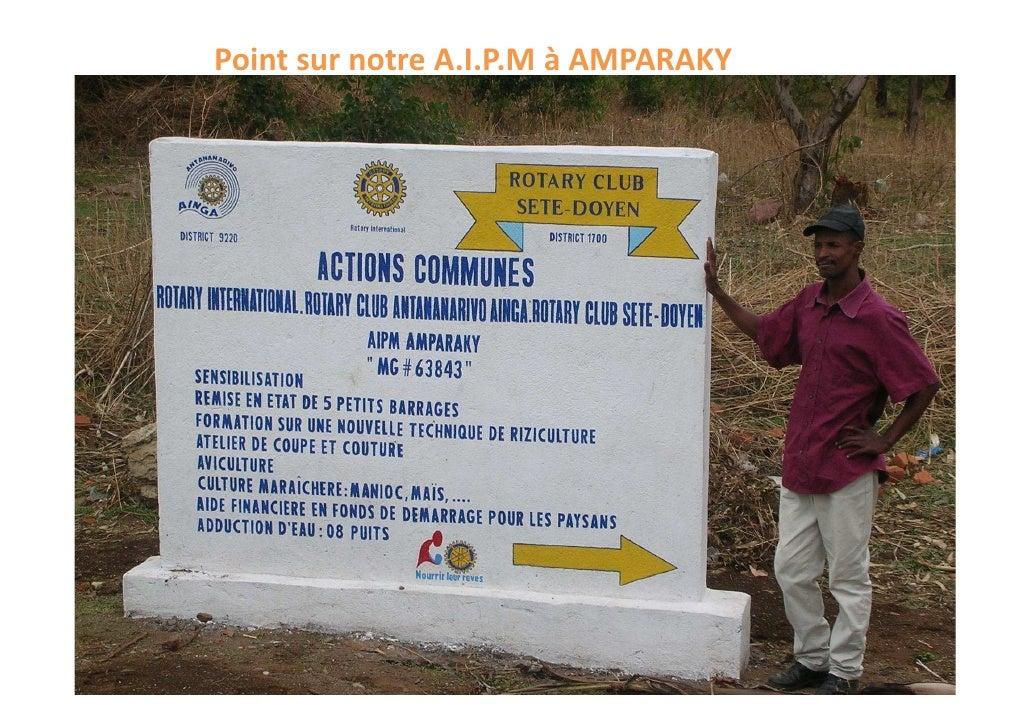 Point sur notre A.I.P.M à AMPARAKY