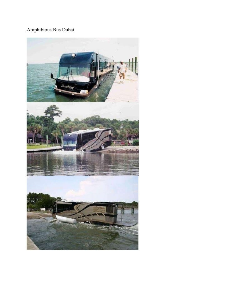 Amphibious bus dubai