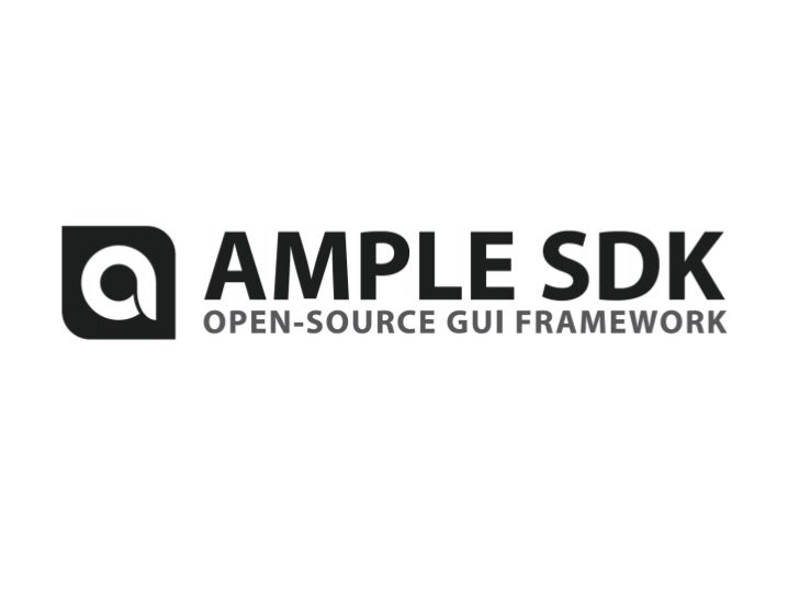 Declarative and standards-based web application development with the Ample SDK