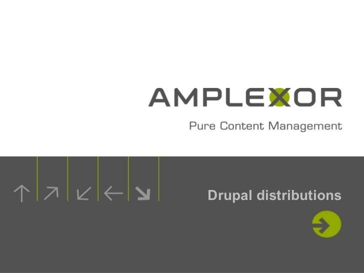 Drupal distributions