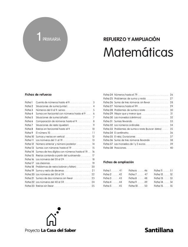 Ampliacion e refuerzo matematicas 1º