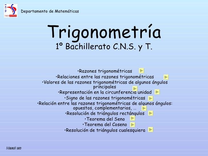 todo sobre trigonometria