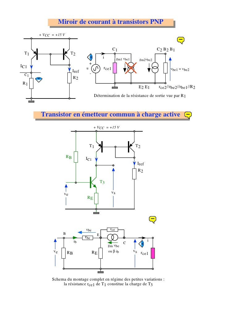 Amplification bipolaire for Miroir de courant