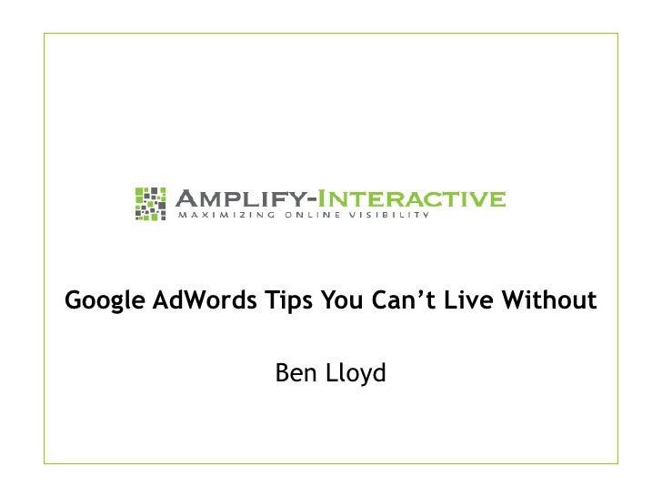 Google AdWords Optimization