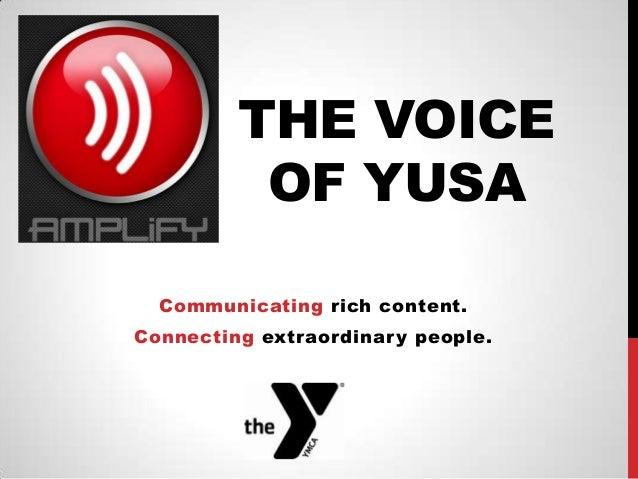 Amplify the Voice!
